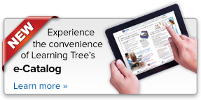 Experience the convenience of Learning Tree's e-Catalog