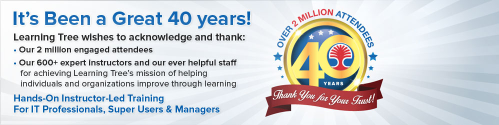 It's Been a Great 40 years!