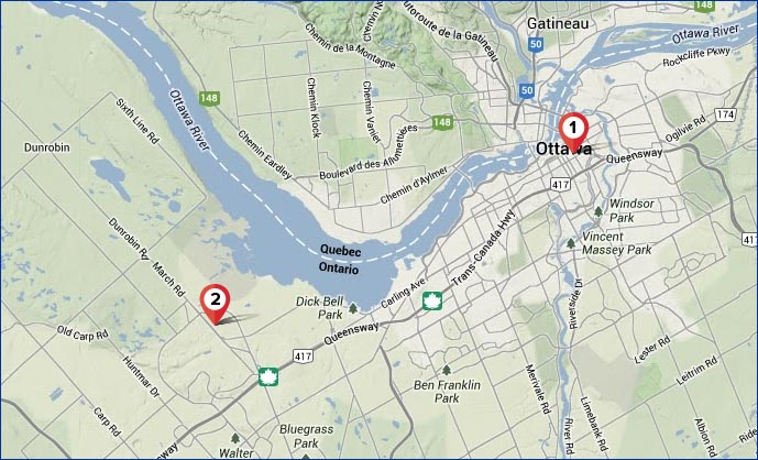 Ottawa Map – 3 AnyWare Learning Centers
