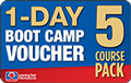 5 Course Pack 1-DAY BOOT CAMP Voucher